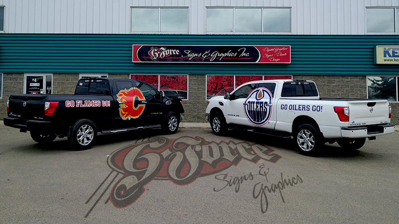 G-Force Signs and Graphics - Graphic Design, Vinyl Printing, Vehicle Wraps - Red Deer, Alberta